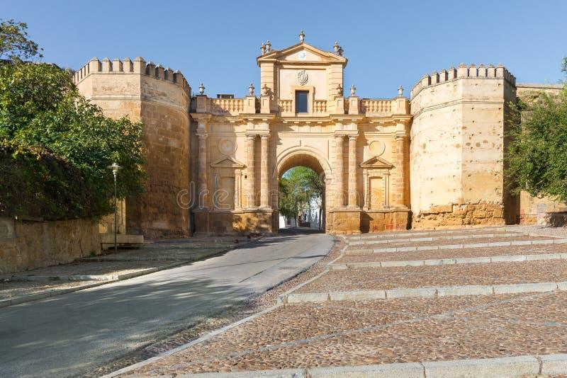 Cordoba Gate. In Carmona, Seville, Spain stock photography