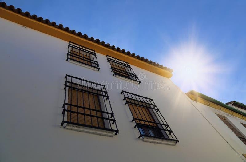 Cordoba gator på en solig dag royaltyfria foton