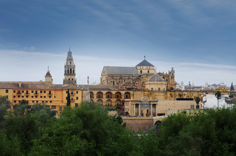 Cordoba. Great Mosque called Mezquita, in Cordoba, Spain royalty free stock photography