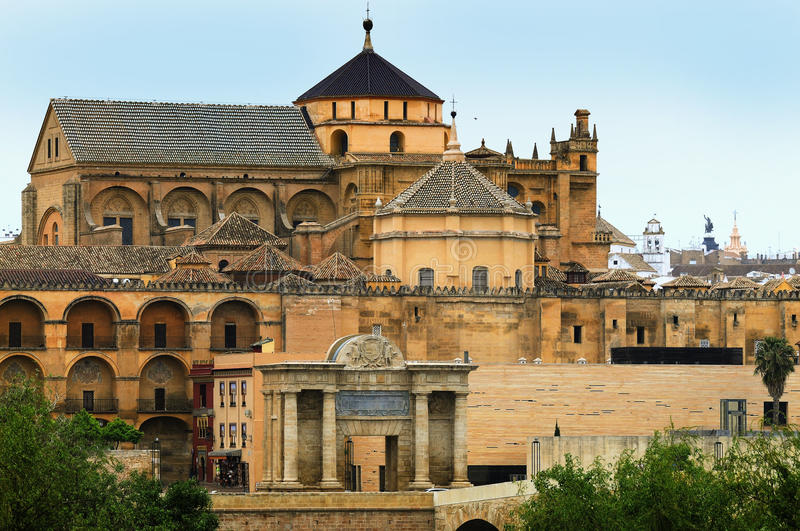 Cordoba. Great Mosque, Mezquita, in the old town of Cordoba, Andalusia royalty free stock photo