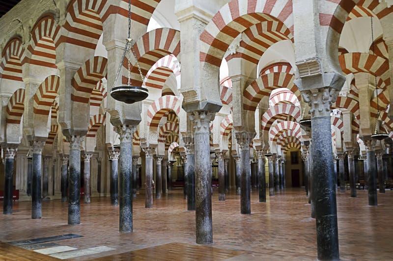 cordoba inom mezquita spain arkivbild