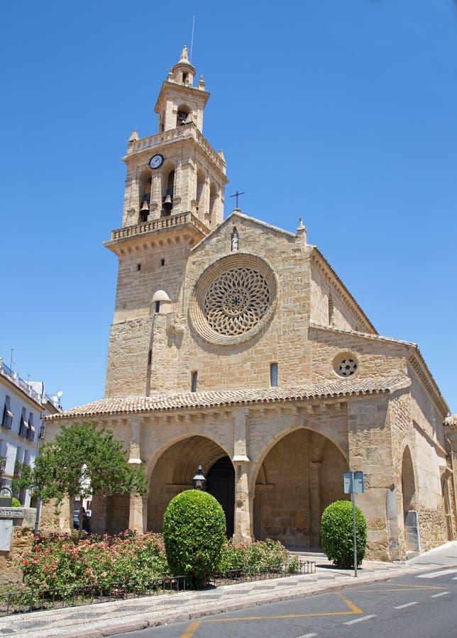 Cordoba - kyrkliga Iglesia de San Lorenzo royaltyfri fotografi