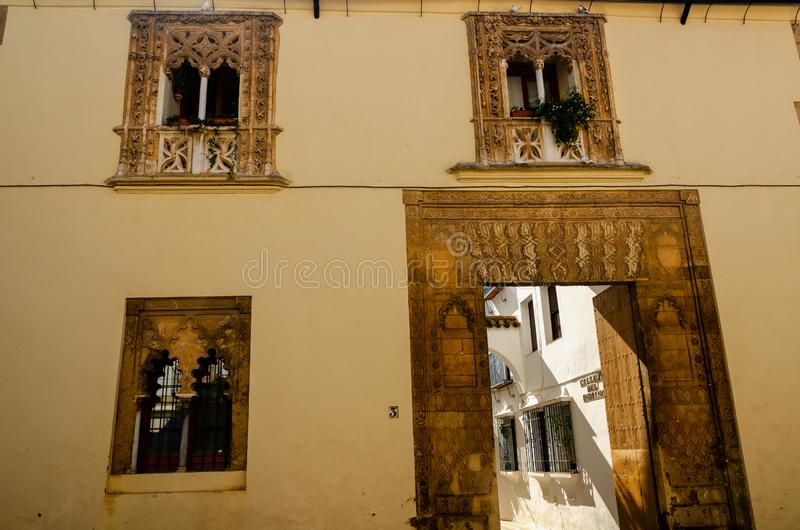 Cordoba is located in the Andalucia region of Spain a popular tourist destination. Cordoba, Spain, is a collection of past and modernity, it is a thousand-year stock image