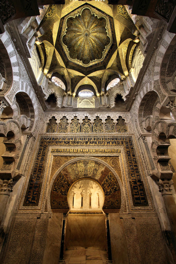cordoba mezquita arkivbild