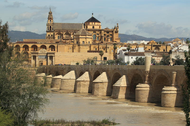 Cordoba mosque. Cordoba landmarks - Cathedral, Old bridge and Great Mosque in Andalusia, Spain stock photos
