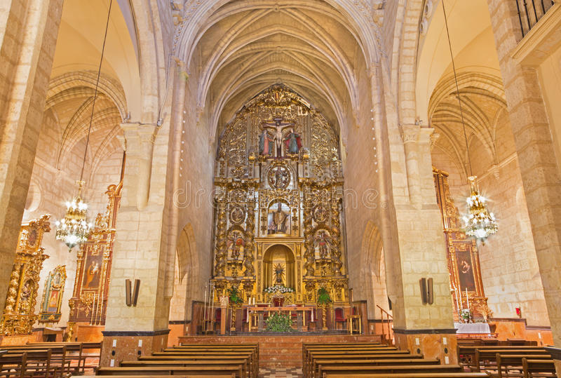 Cordoba - The nave of church Iglesia de san Nicolas de la Villa. CORDOBA, SPAIN - MAY 26, 2015: The nave of church Iglesia de san Nicolas de la Villa royalty free stock images