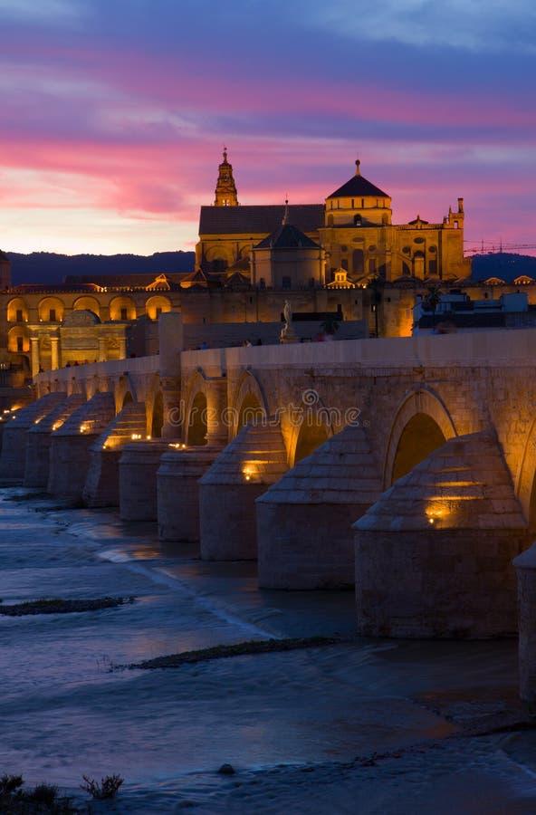 Cordoba at night, Spain stock photos