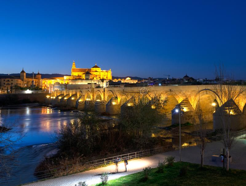 Cordoba with the Puente Romano stock photography