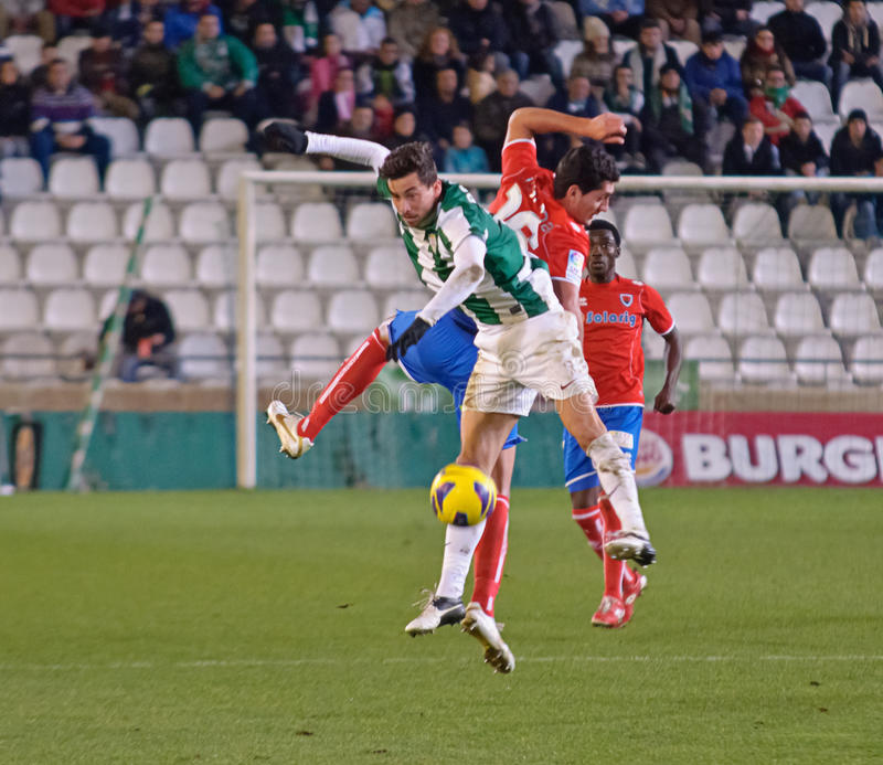 Download CORDOBA, SPAIN - JANUARY 13:Vincenzo Rennella W(12) In Action During Match League Cordoba(W) Vs Numancia (R)(1-0) At The Municipal Editorial Stock Photo - Image: 28660858