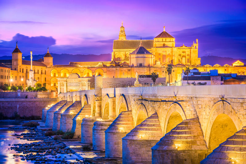 Cordoba, Spain at the Mosque-Cathedral stock photos