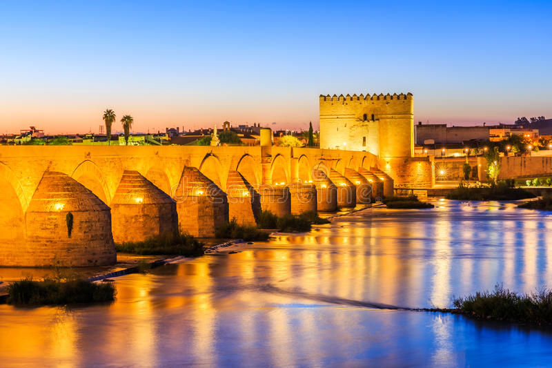 Cordoba, Spain. Roman Bridge on the Guadalquivir River stock images
