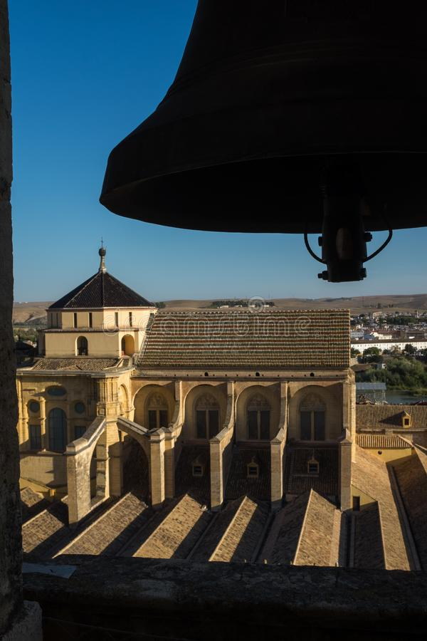 Cordoba, Spain, September, 26, 2017: The view from the bell tower inside the historical Mezquita across the roof of the stock photo