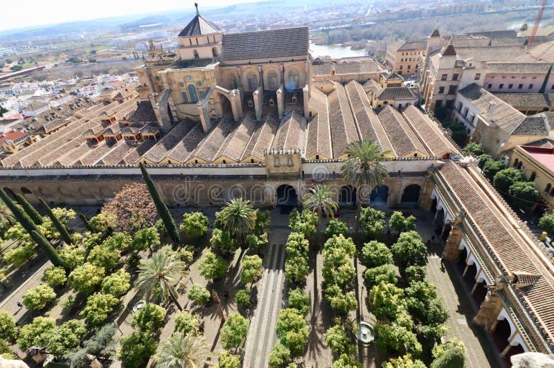 Cordoba Spanien, medeltida domkyrkamoské fotografering för bildbyråer