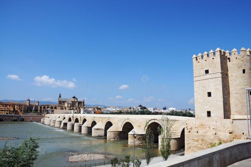 Cordoba. Torre de la Calahorra at the end of the roman bridge in Cordoba, spain royalty free stock photo