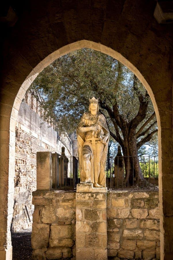 cordoba Trädgårdar på alcazaren de los Reyes Cristianos i Cordoba, Spanien royaltyfria foton