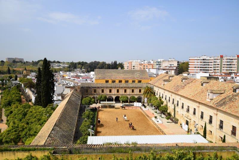 Cordoba. View on Alcazar in Cordoba, Andalusia, Spain royalty free stock image