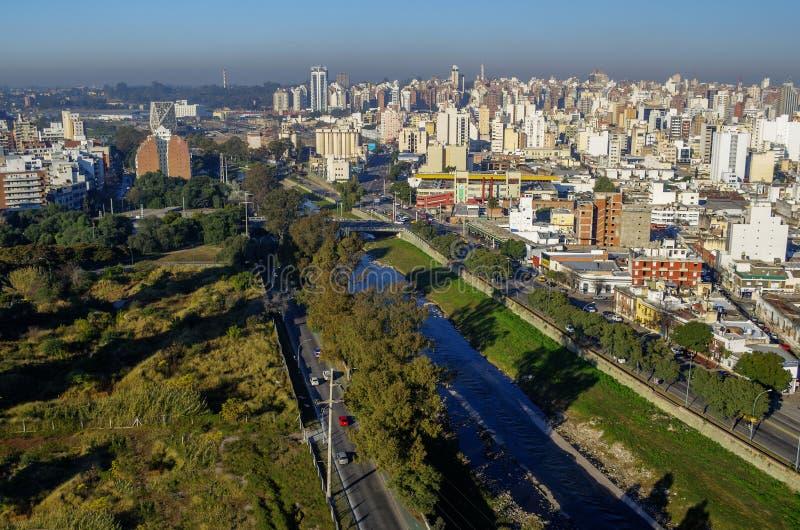 Cordoba view cityscape. Cordoba cityscape. Suquia's river stock images