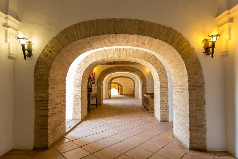 Cordoby Alcazar korytarz obraz stock