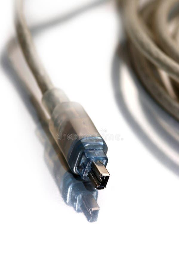 Cordon de câble d'incendie pour le vidéo digital photographie stock libre de droits
