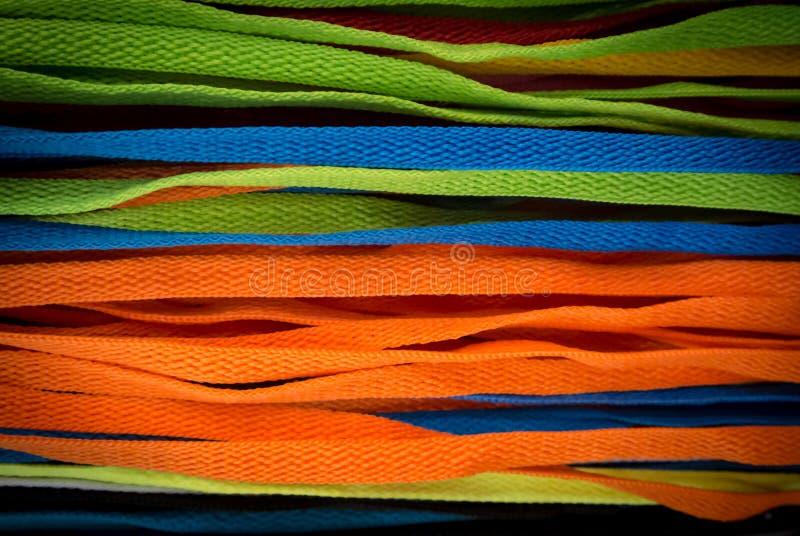 Cordones coloridos fotografía de archivo