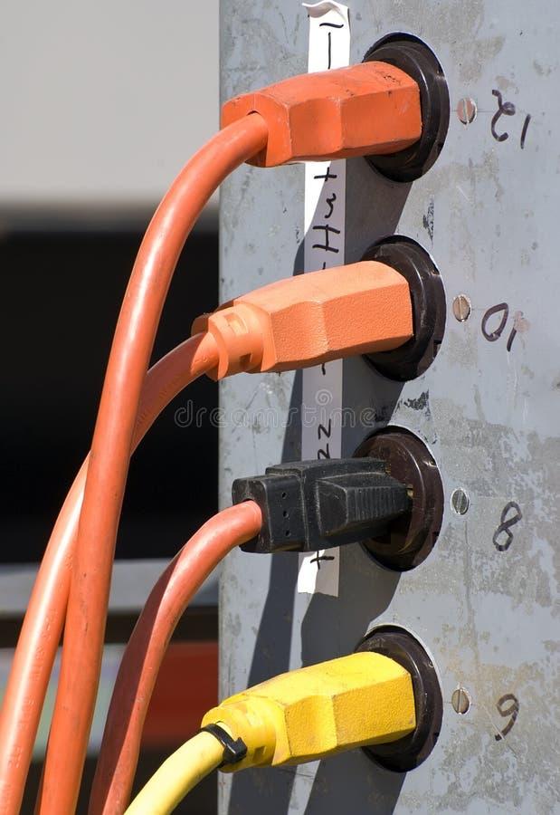Cordons électriques image libre de droits