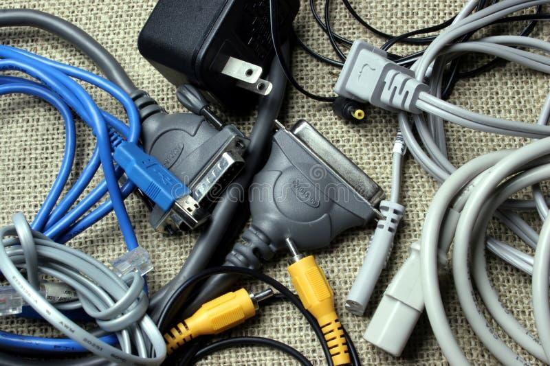 Cordons et câbles images libres de droits
