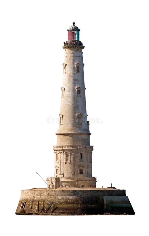 cordouan изолированный маяк стоковая фотография rf