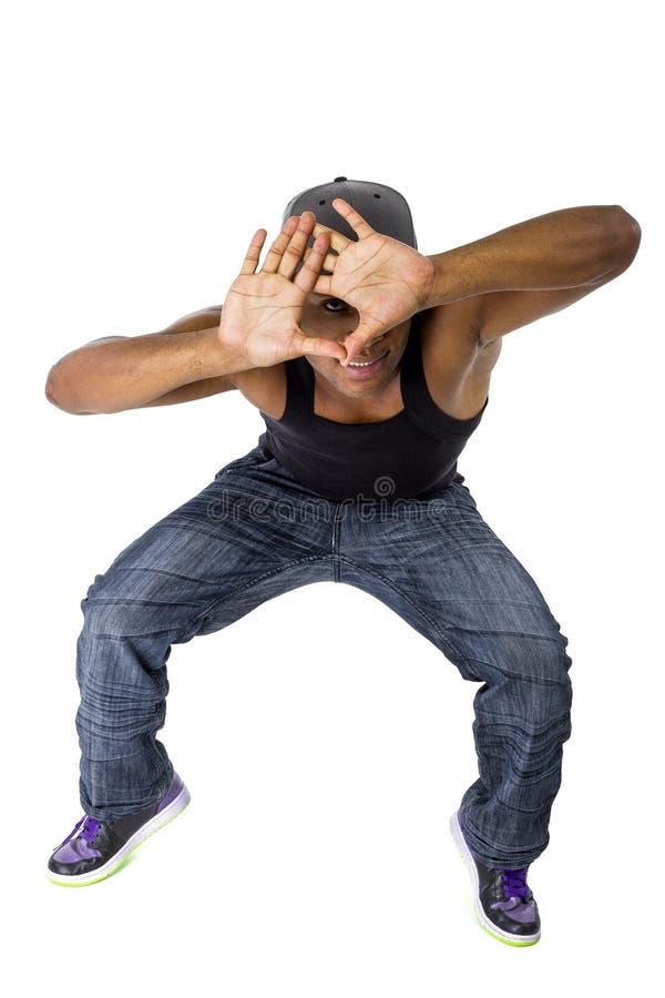 Coreógrafo Composing da dança com quadro da mão imagens de stock royalty free