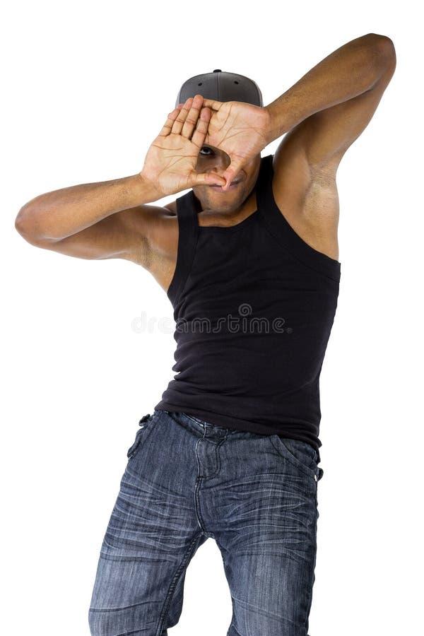 Coreógrafo Composing da dança com quadro da mão fotografia de stock