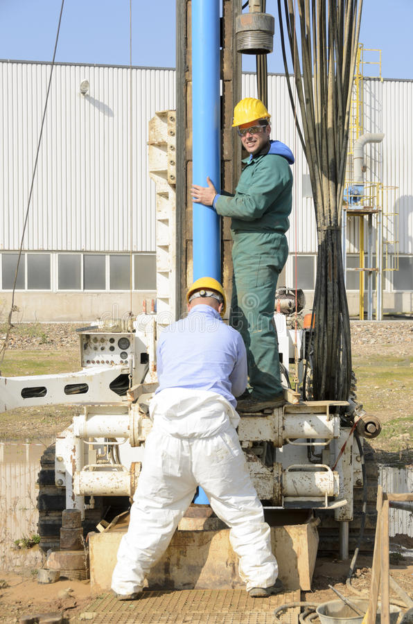 Core drilling underground. stock photos