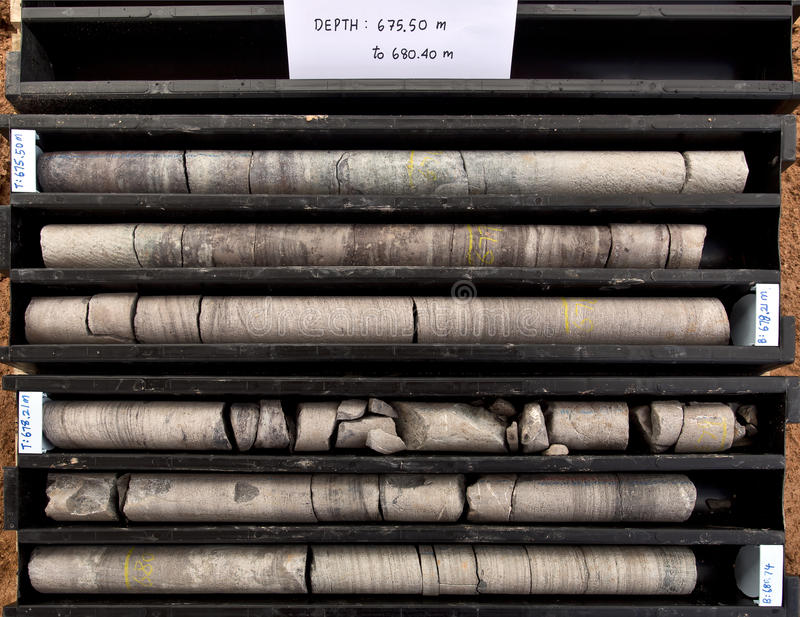 Core samples stock images