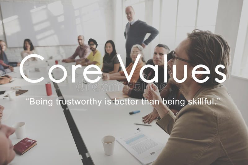 Core Values Goals Mission Business Purpose Concept royalty free stock photography