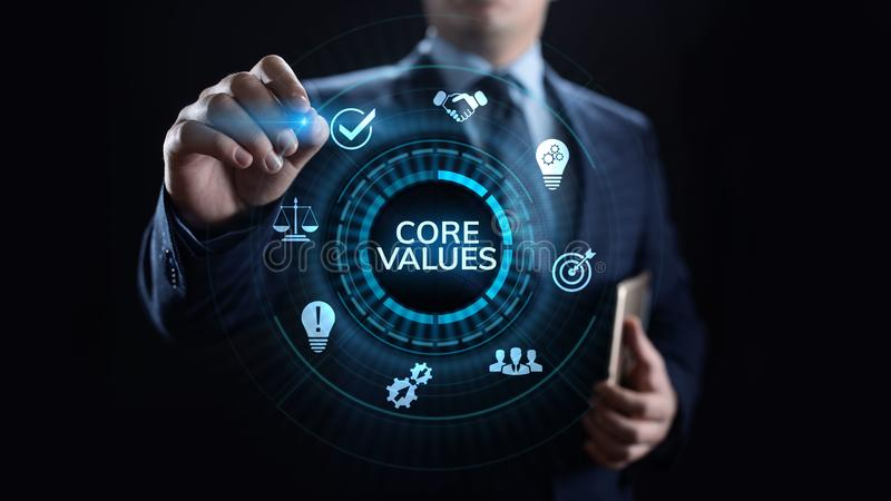 Core values responsibility Company Ethical Business concept. Core values responsibility Company Ethical Business concept royalty free stock photo