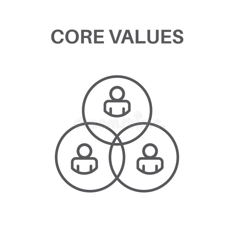 Core Values with Social Responsibility Image - Business Ethics a. Core Values with Social Responsibility Image - Business Ethics & Trust royalty free illustration