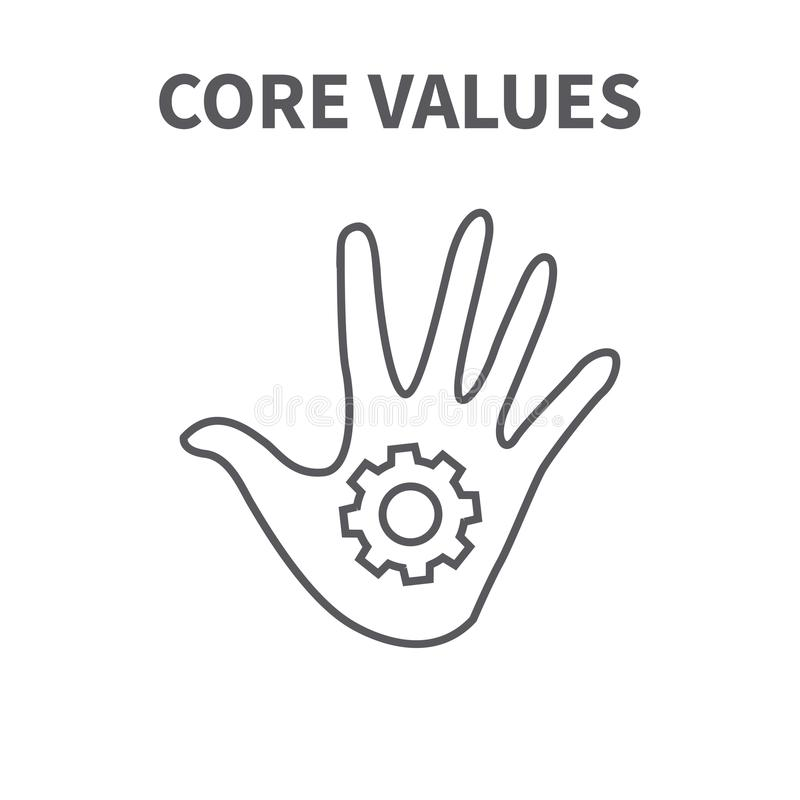 Core Values with Social Responsibility Image - Business Ethics a. Core Values with Social Responsibility Image - Business Ethics & Trust stock illustration