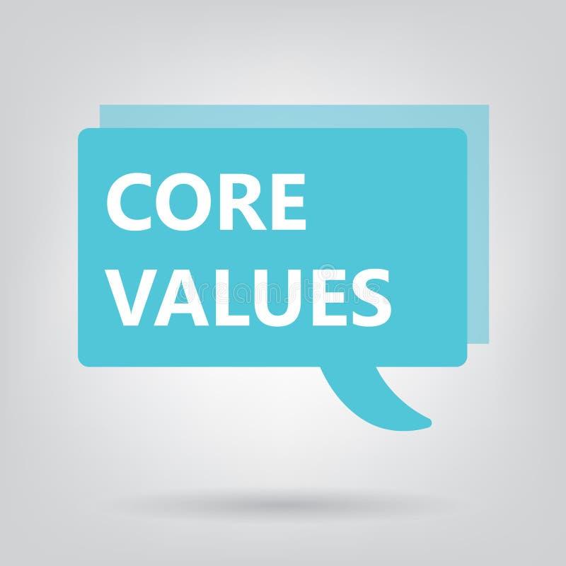 Core values written on a speech bubble. Vector illustration vector illustration
