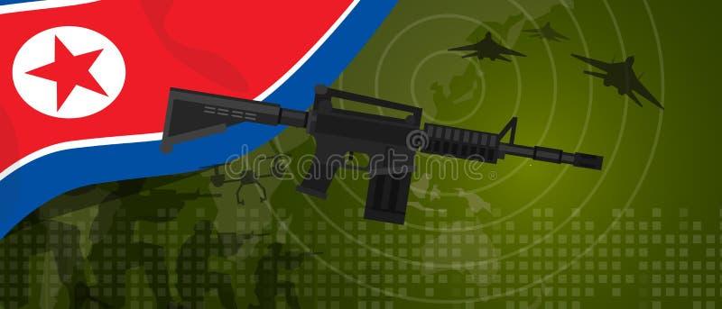 Corea del Norte o nacional Democratic del país de la guerra y de la lucha de la industria de defensa del ejército de la potencia  libre illustration