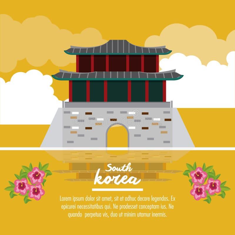 Corea del Sur infographic stock de ilustración