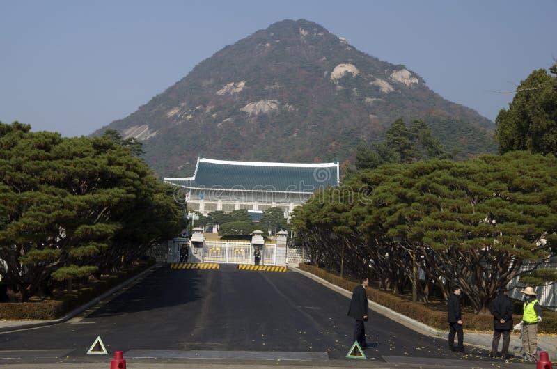 Corea del Sur presidencial de la residencia de la casa azul imágenes de archivo libres de regalías