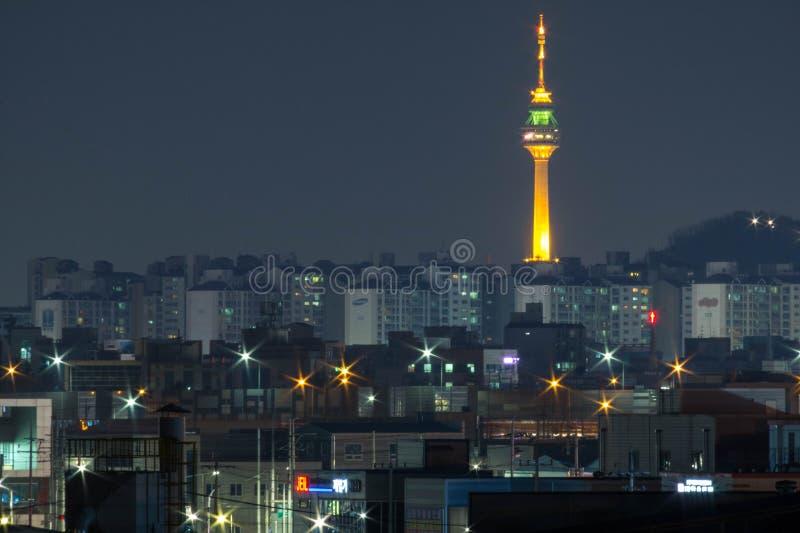 Corea del Sur, torre de Daegu fotografía de archivo libre de regalías