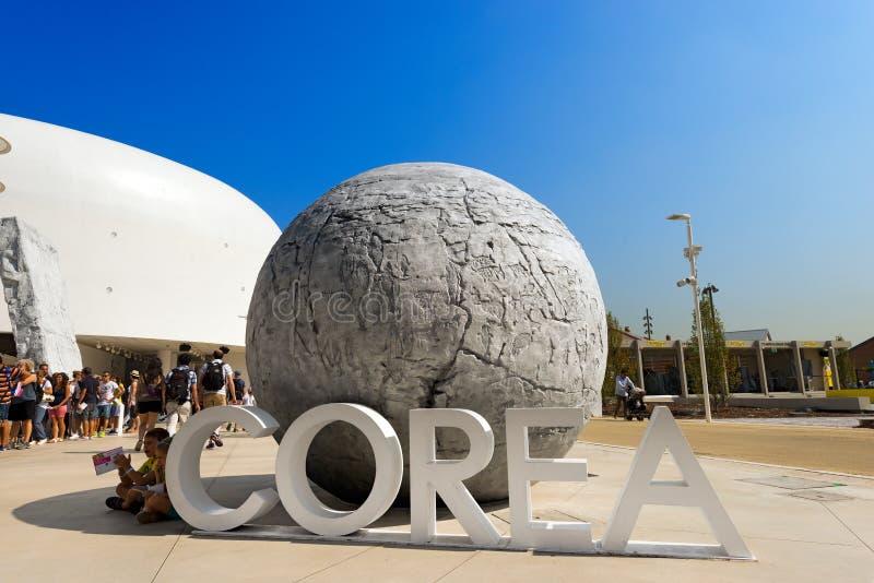 Corea paviljong - expo Milano 2015 arkivfoton