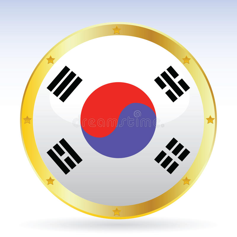 Coreano ilustración del vector