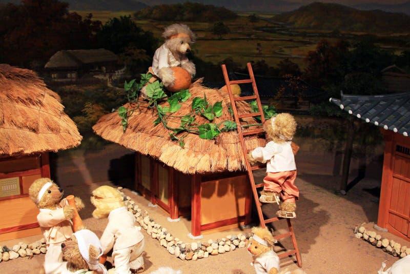 Coreia Seoul Teddy Bear Museum imagem de stock