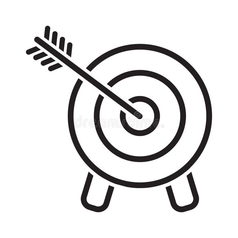 目标象 击中目标的箭头 E r 库存例证