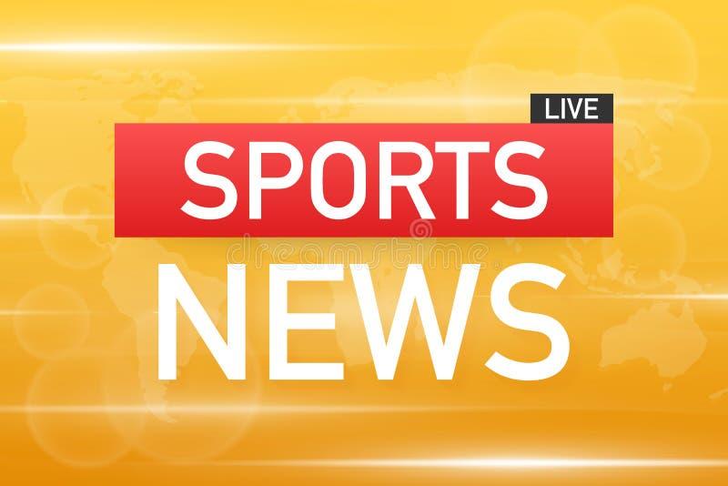 Οι αθλητικές ειδήσεις ζουν στο υπόβαθρο παγκόσμιων χαρτών r ελεύθερη απεικόνιση δικαιώματος