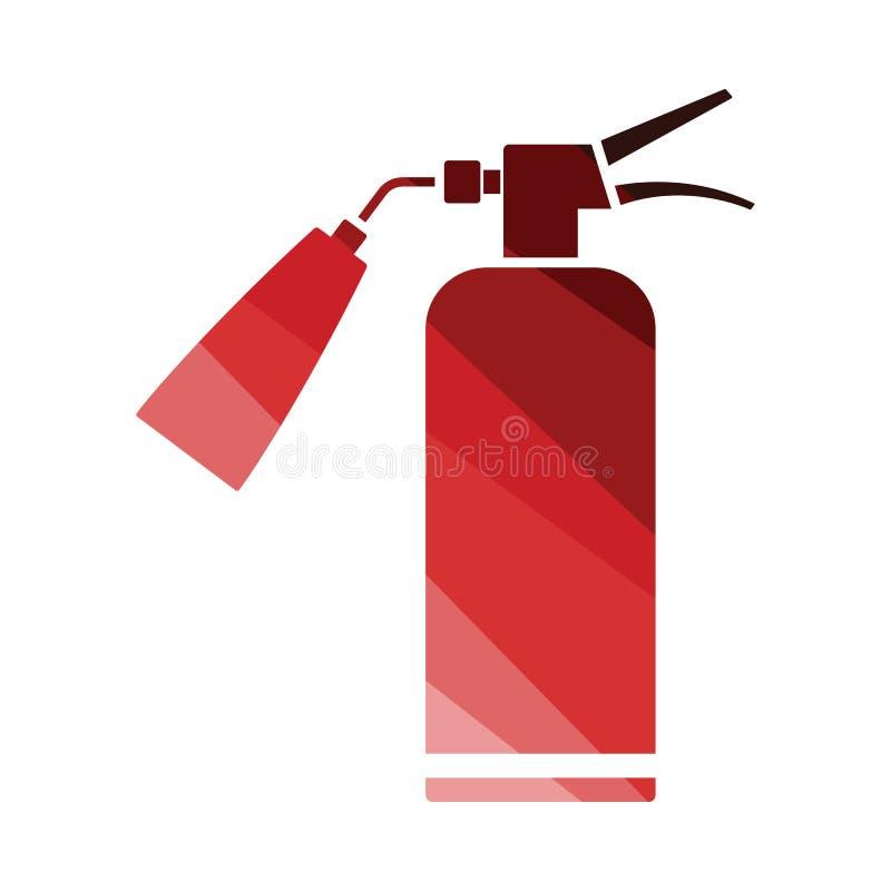 Значок огнетушителя иллюстрация штока