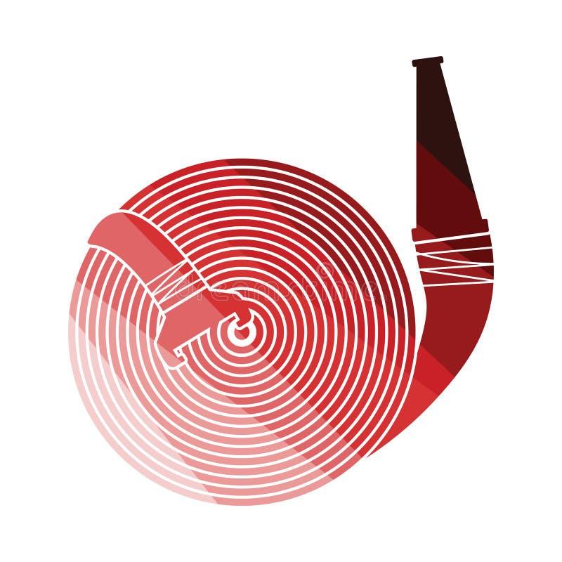 Значок пожарного рукава иллюстрация вектора