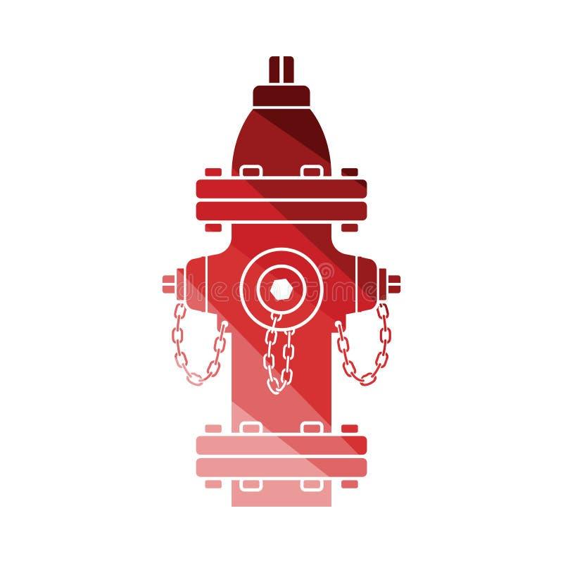 Значок пожарного гидранта иллюстрация вектора