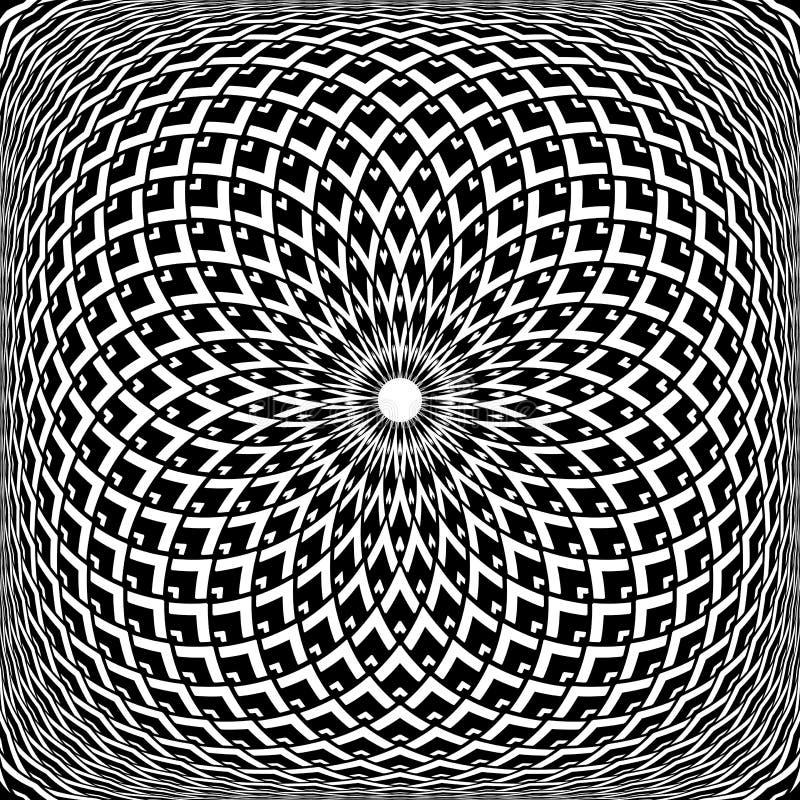 几何凸面自转样式 欧普艺术抽象设计 皇族释放例证