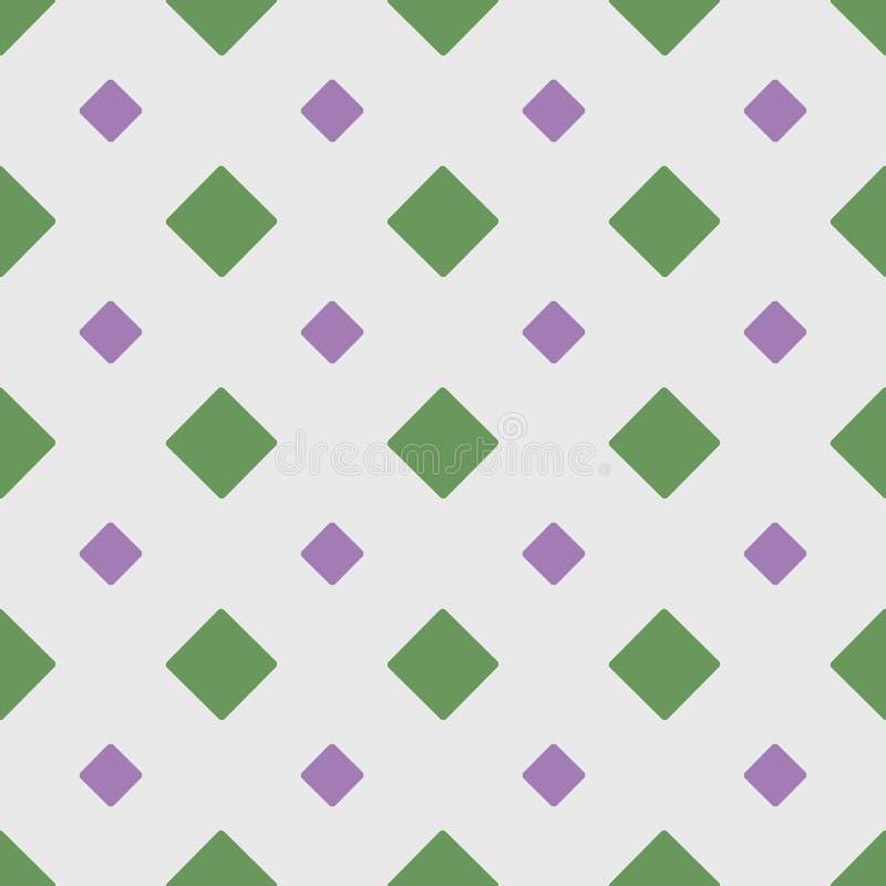与菱形的几何无缝的样式 r 皇族释放例证